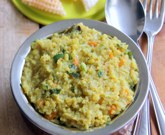 Wholesome Khichdi - Lauki carrot kichadi - Healthy one pot meal - Diet Plan - No onion, garlic, tomato recipes
