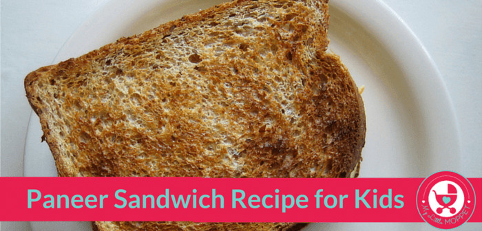 Paneer Sandwich Recipe for Kids