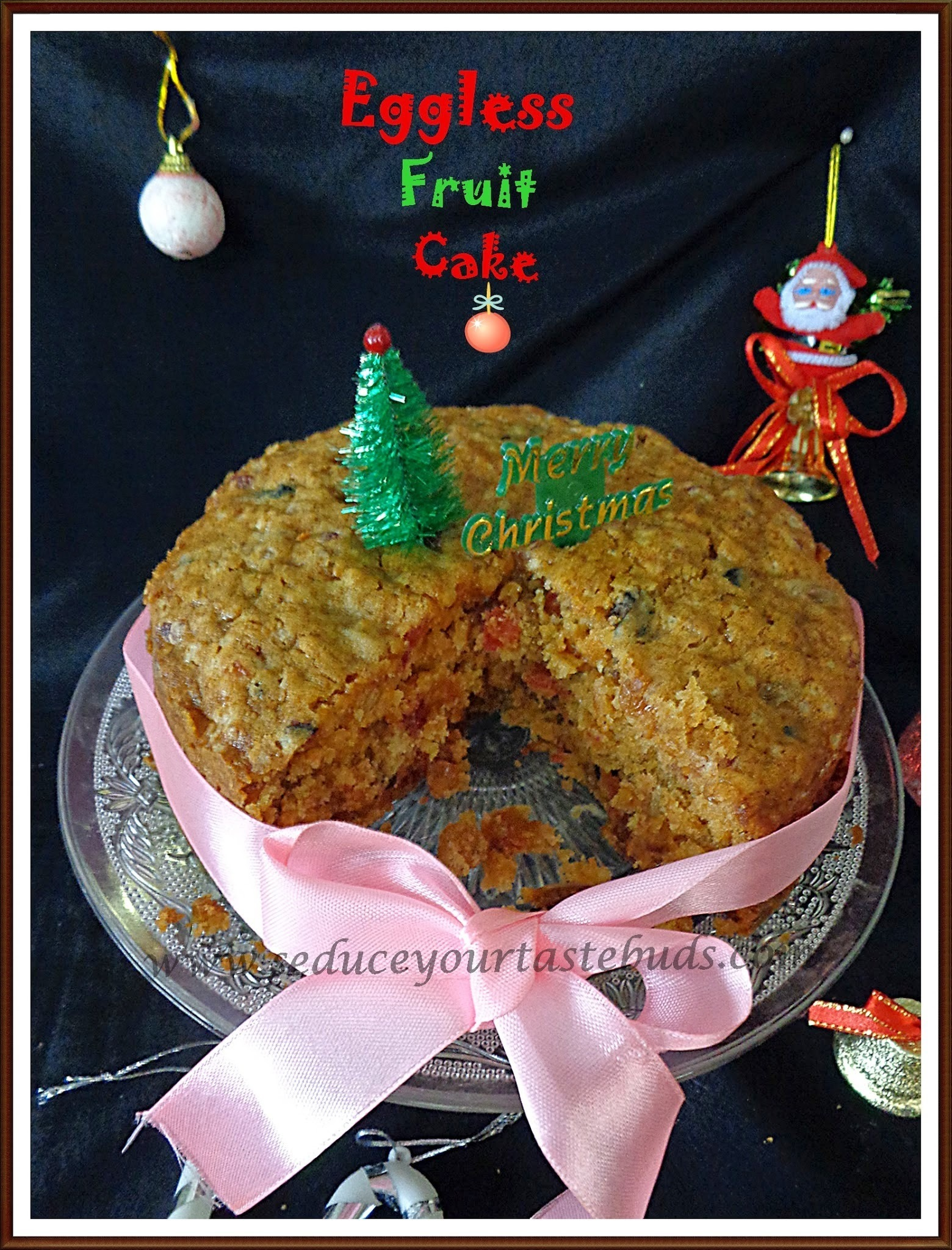 Eggless[Alcohol Free] Kerala Christmas Fruit Cake
