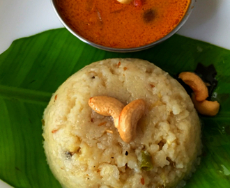 Ven Pongal |Ghee Pongal | Popular South Indian Breakfast | How to make Ven Pongal at home | Stepwise Pictures | Quick and Easy Recipe | Happy Pongal
