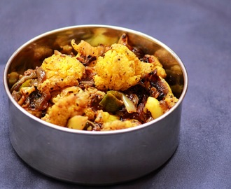Cauliflower pepper fry / side dish for rice / gobi pepper fry
