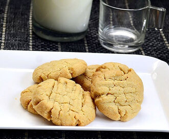Eggless Custard Powder Cookies Recipe–Whole Wheat Cookies