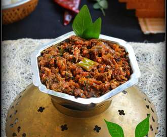 FENUGREEK LEAVES CHUTNEY / METHI CHUTNEY / MENTHE SOPPINA CHUTNEY