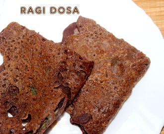 Instant ragi dosa recipe – healthy breakfast recipes – ragi recipes