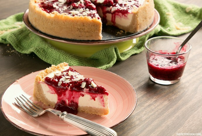 New York Style Raspberry Cheesecake