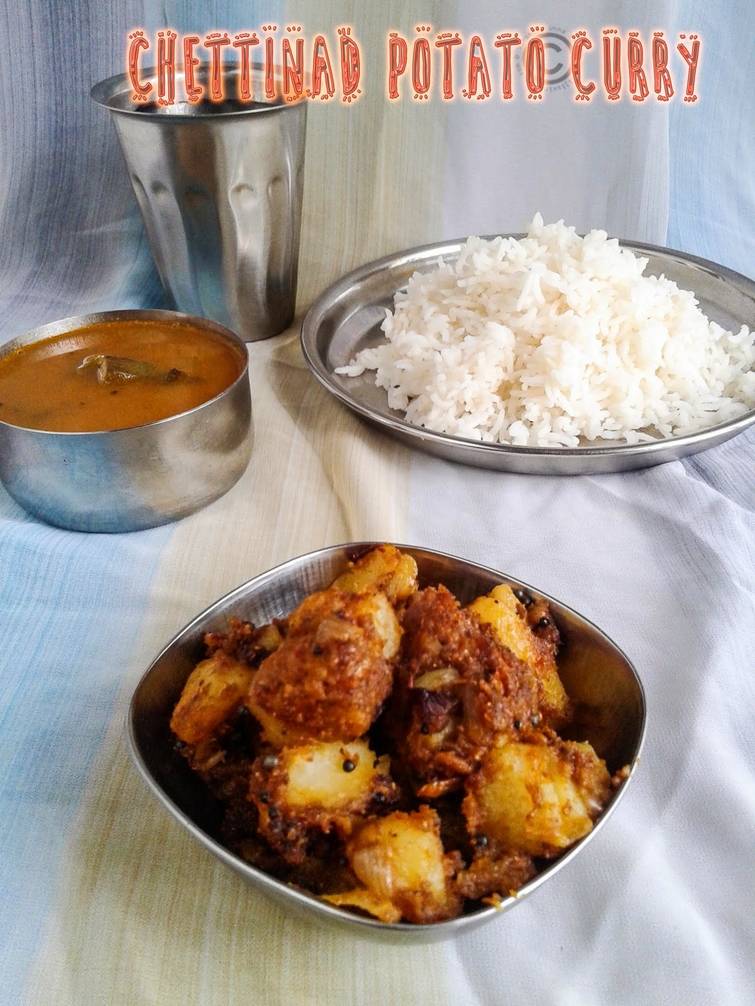 CHETTINAD POTATO CURRY I EASY ALOO CURRY I SIDE DISH FOR RICE & ROTI