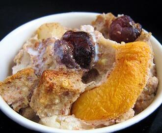 Peachy Pear Bread Pudding
