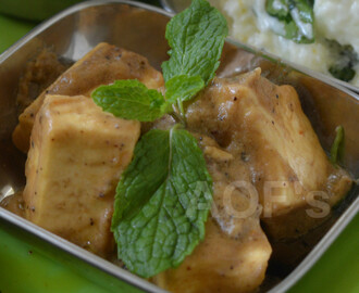 Paneer Kali Mirch ( A refreshingly different Cottage Cheese curry )