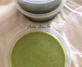 Green chutney for tandoor dishes