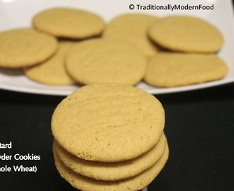 Eggless Custard Powder Cookies (Whole Wheat)