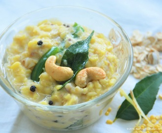Spicy oats pongal - porridge of oats and lentils