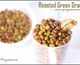 Spicy Roasted Green Gram / Diet Friendly Recipe - 44 / #100dietrecipes