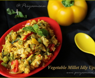 Vegetable Millet Idly Upma / Diet Friendly Recipe - 46 / #100dietrecipes