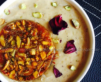 Chironji Makhane Kheer With Mixed Dry Fruit Chikki / Chiraunji Fox Nuts Milk Pudding With Nutty Caramel Discs ~ Celebrating Lohri