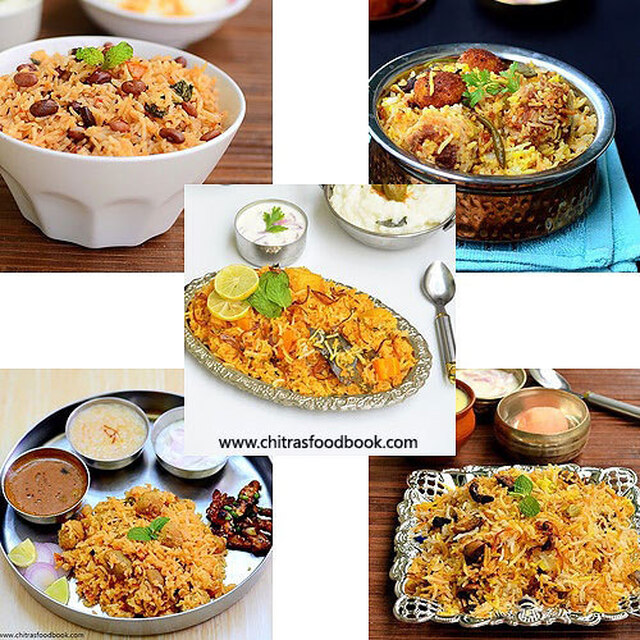 Biryani Recipes – 40 Veg Biryani Varieties