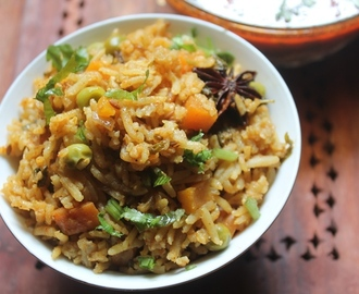 Brown Basmati Rice Masala Pulao Recipe - Brown Basmati Rice Pulav Recipe