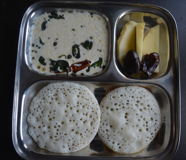 Set Dosa and chutney – Kids Breakfast Menu