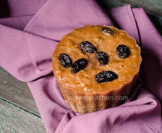 Steamed Coconut & Raisin Pudding - New Year Special Recipe