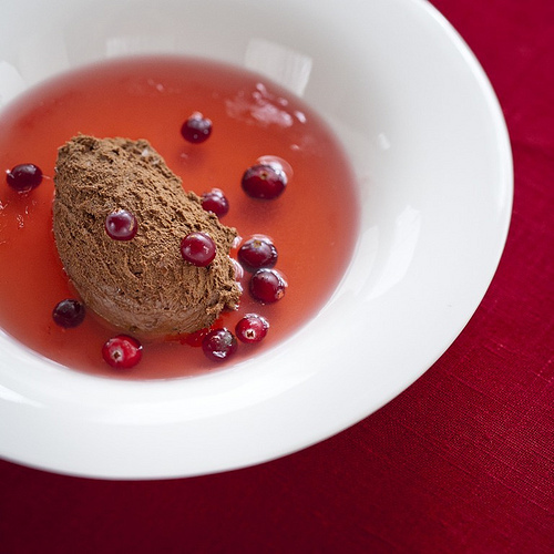 Christmas Recipes: Chocolate Mousse with Cranberry Fruit Soup