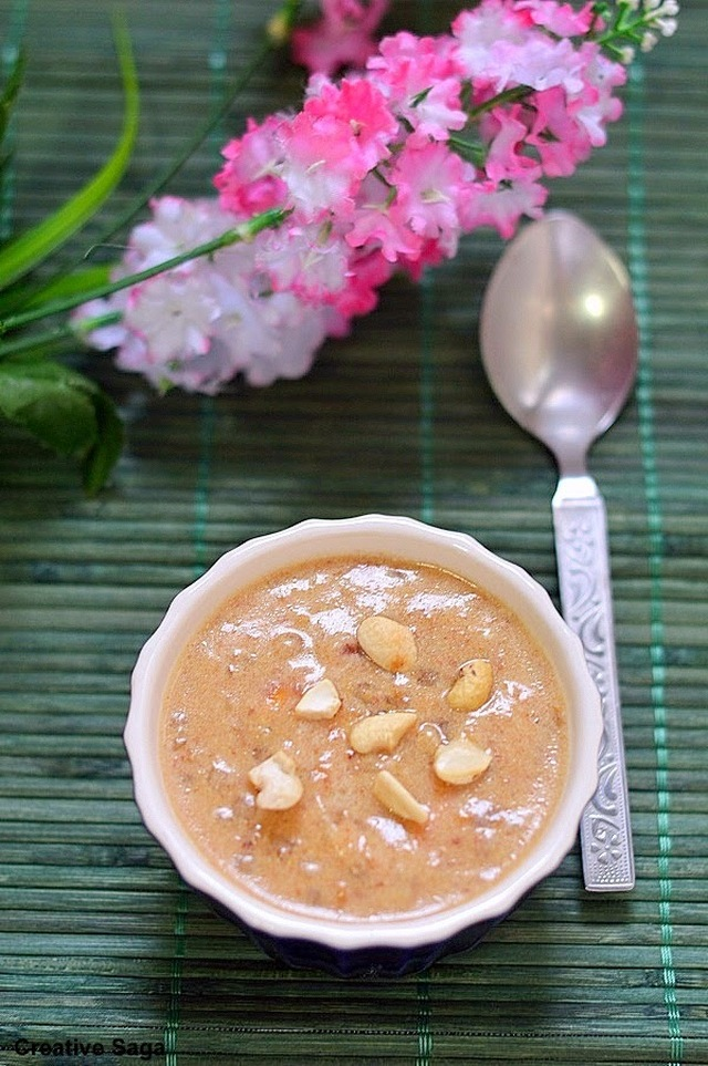 Dates sago pudding recipe - easy no sugar dessert recipes