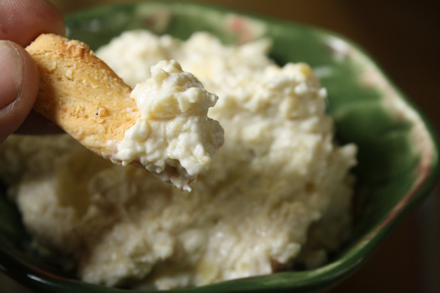 Artichoke Dip with Cream Cheese & Parmesan