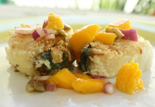 Coconut Crusted Fish & Mango Salsa