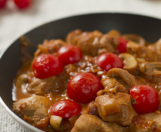 Not so Drunken Chicken with Tomatoes