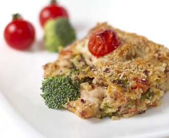 Baked Quinoa Chicken Broccoli