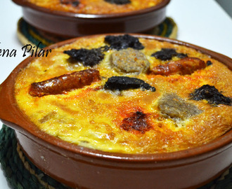 Arroz en costra (dos versiones: con arroz blanco y con arroz integral)