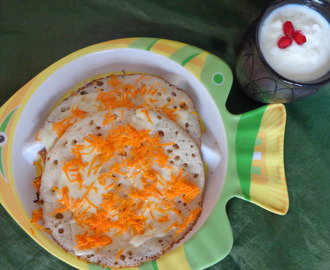 Carrot Cheese Dosa – Kids Breakfast Menu