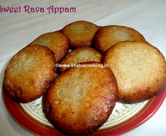 Sweet Rava Appam