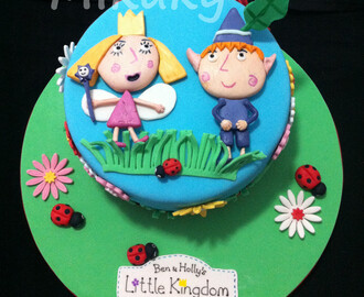 Tarta Ben & Holly de Bizcocho de Chocolate y Swiss Meringue Buttercream de Vainilla