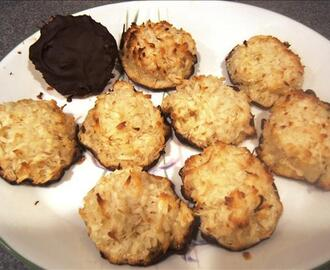 Jumbo Black Bottom Coconut Macaroons