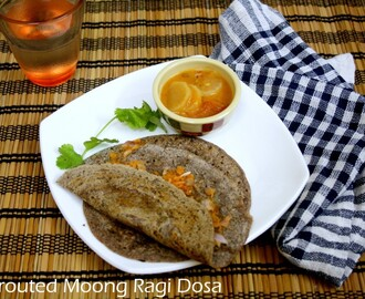 Sprouted Moong Ragi Dosa ~ 101 Dosa Varieties!