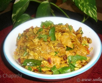 Quick Egg Kothu Chapathi Recipe / Muttai Kothu Chapathi Recipe