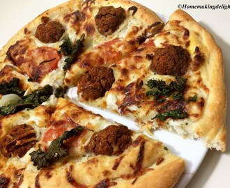 Veg ball Pizza Recipe – Homemade Veggie Carrot ball Pizza