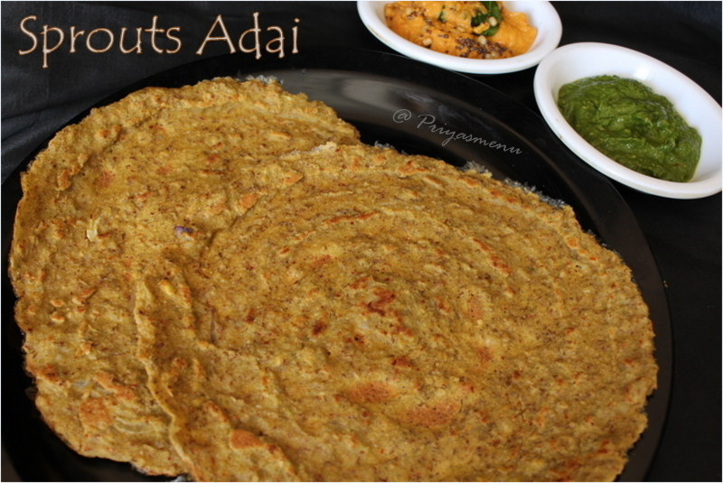 Sprouts Adai / Diet Friendly Recipe - 56 / #100dietrecipes