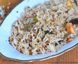 Ellorai/Ellu podi Saadam/Sesame Seeds Rice - Mixed Rice, Variety Rice , Lunch Box recipe