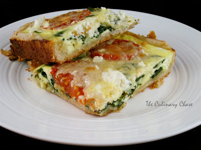 Spinach, Feta and Tomato Slice