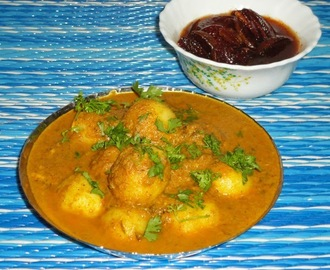 Karwari spicy baby potato curry