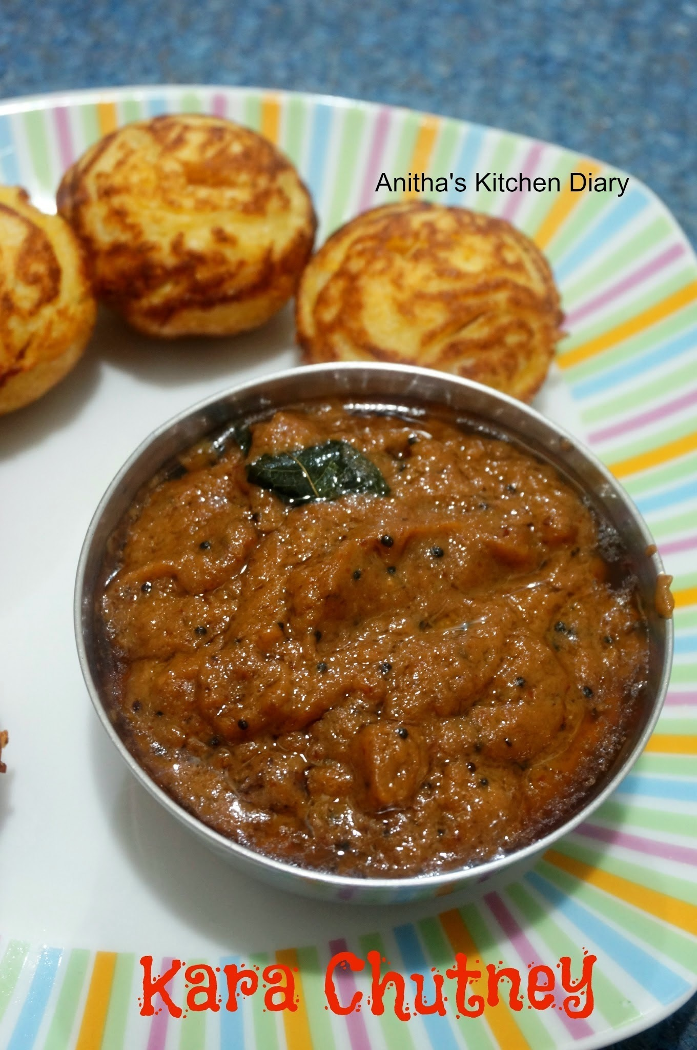Kara Chutney | Chilli Garlic Chutney | Side dish for Idli Dosa