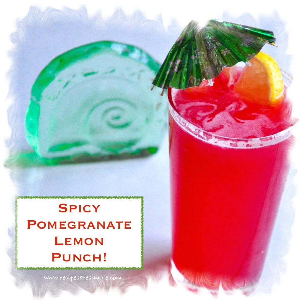 Spicy Pomegranate Lemon Punch