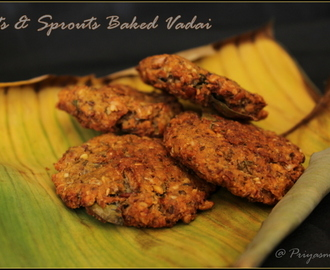 Oats & Sprouts Baked Vadai / Diet Friendly Recipe - 57 / #100dietrecipes