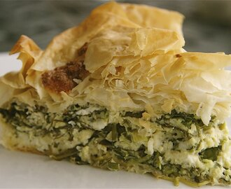 Macedonian Pie of Greens and Cheese