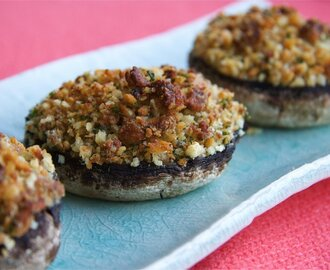Stilton Stuffed Portobello Mushrooms