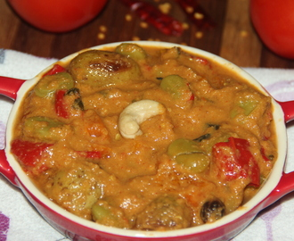 Capsicum, Broad beans with baby potatoes gravy