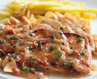 Pork Chops with Creamy Marsala Sauce