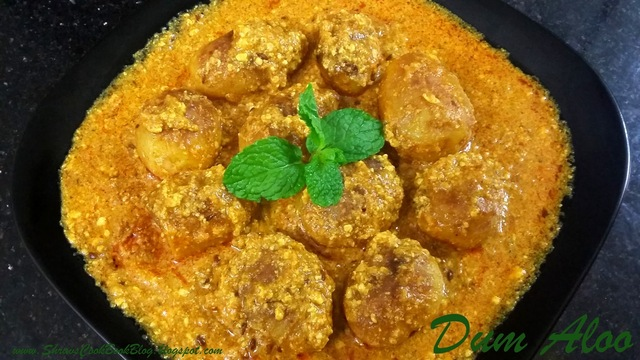 Shahi Dum Aloo - How to make Dum aloo gravy recipe with Baby Potatoes
