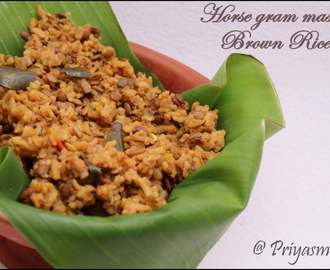 Kollu Satham using Brown rice / Horse gram Masala Brown Rice / Diet - Friendly Recipe - 60 / #100dietrecipes