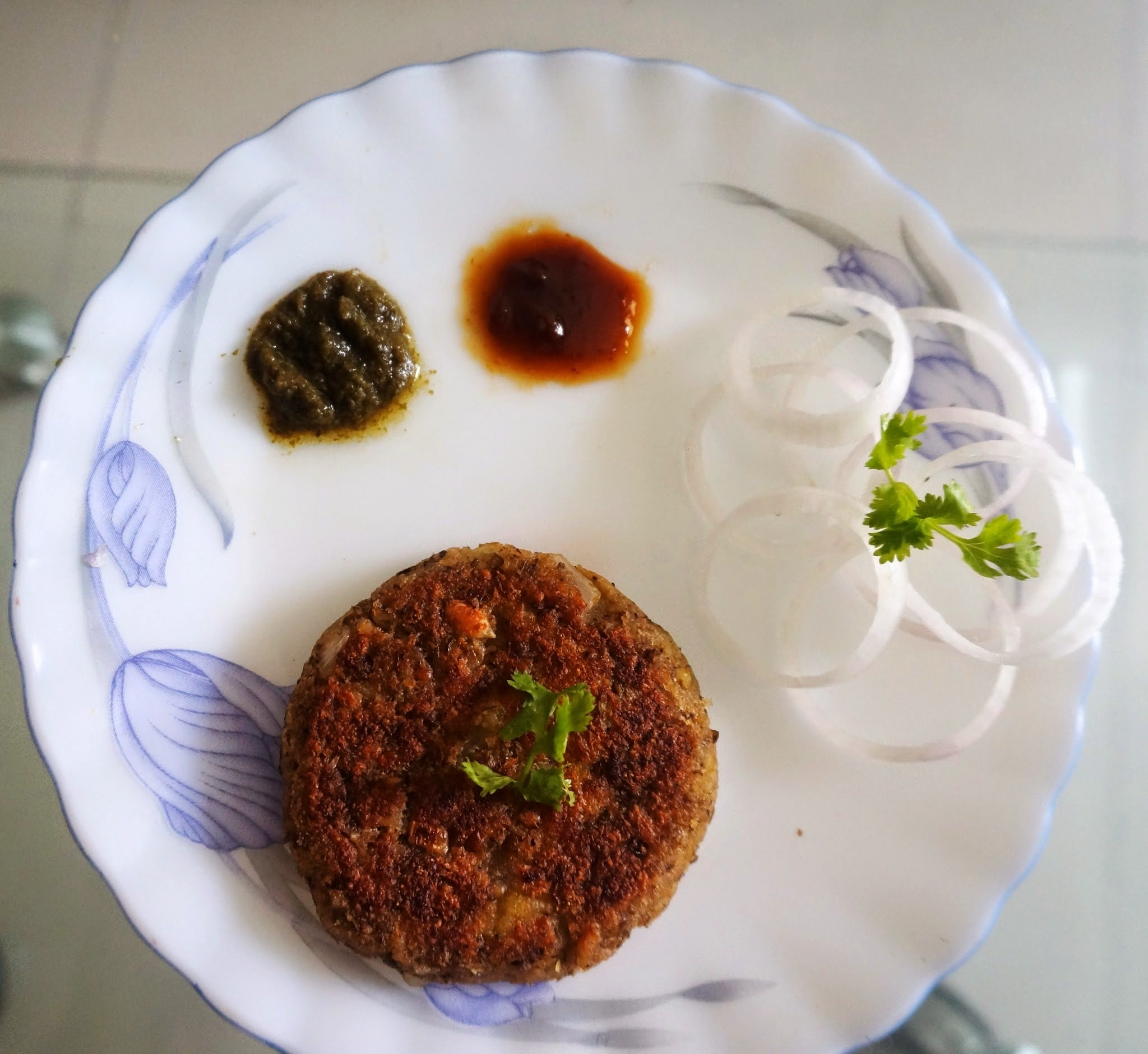 SPROUTS Tikki stuffed with potato - Healthy Breakfast Recipe